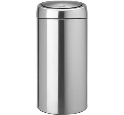 Brabantia Touch Bin 45 Liter Matt Steel Fingerprint Proof