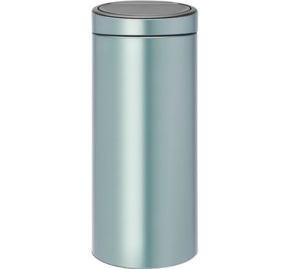 Brabantia Afvalbak 30 Liter.Brabantia Touch Bin 30 Liter Metallic Mint Coolblue Voor 23 59u
