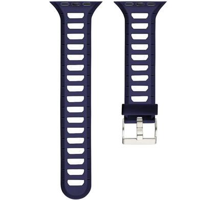 Just in Case Siliconen Horlogeband Apple Watch 38mm Blauw/Wit