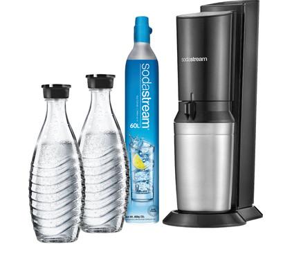 Sodastream Crystal Megapack Black + 2 karaffen