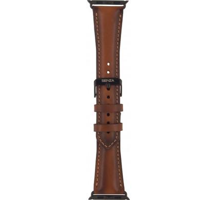 Senza Desire Lederen Horlogeband Apple Watch 38mm Bruin