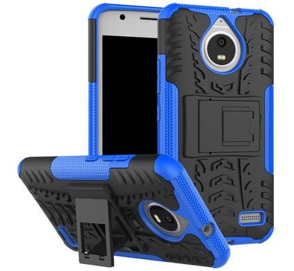 Just in Case Rugged Hybrid Motorola Moto E4 Back Cover Blauw