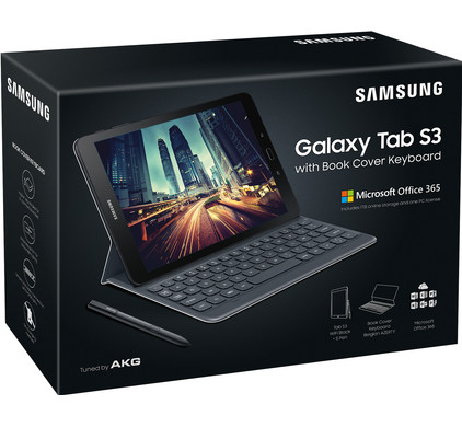 Samsung Galaxy Tab S3 Wifi Zwart + Keyboardcover + MS Office 365 Personal