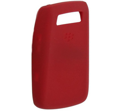 BlackBerry 9700 Silicon Skin Red + Screenprotector