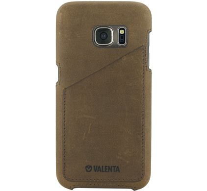 Valenta Backcover Classic Luxe Vintage Samsung Galaxy S7 Bruin