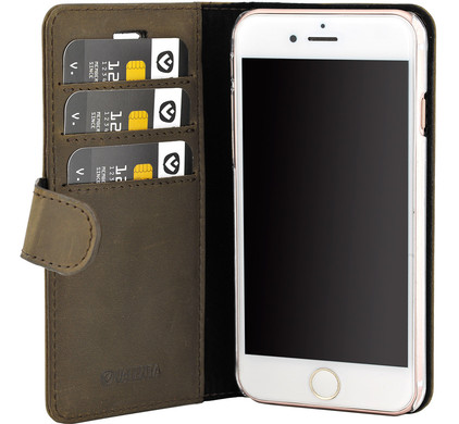 Valenta Booklet Classic Luxe Vintage Apple iPhone 7/8 Bruin