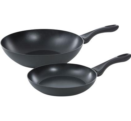BK Basics Koekenpan en Wok 24 + 28 cm