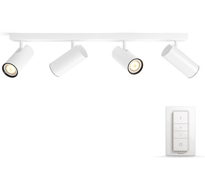 Philips Hue Buratto 4-Spot Wit met Dimmer