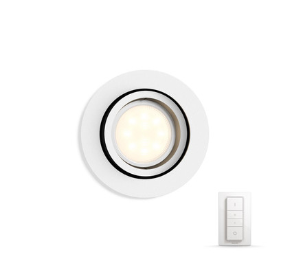 Philips Hue Milliskin Rond Wit Inclusief Dim Switch