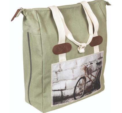 FastRider Dubbele Shopper Tas Cyclo Groen