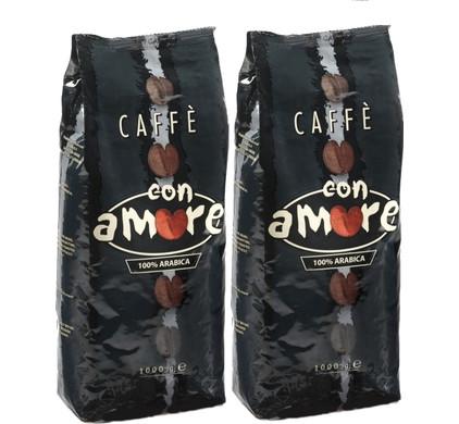 Caffe Con Amore grains de café 2 kg