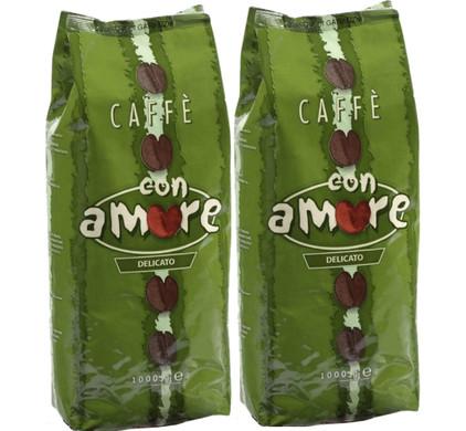 Caffe Con Amore Delicato Grains de Café 2 kg
