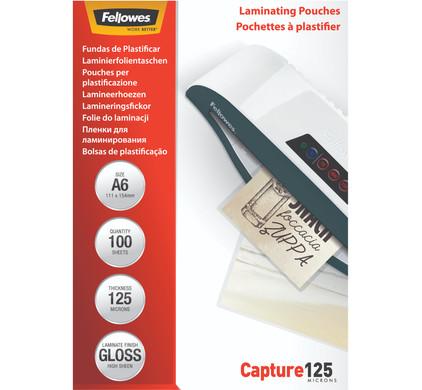 Fellowes Lamineerhoezen Capture 125 mic A6 (100 Stuks)