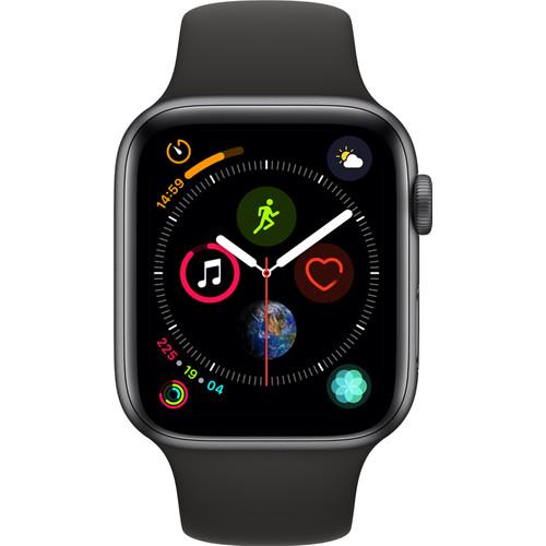 Apple Watch Series 4 44mm Space Gray Aluminium/Zwarte Sportb