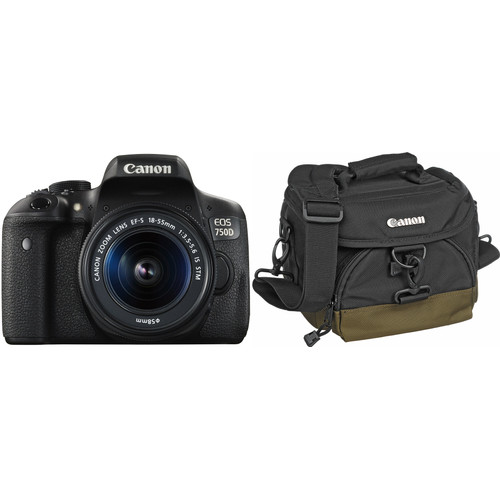 Canon EOS 750D + 18-55mm IS STM + Tas + 16GB + Doekje