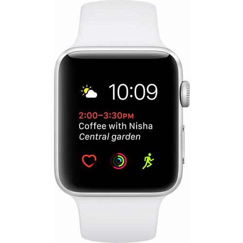 Apple Watch Series 2 42mm Zilver Aluminium/Witte Sportband