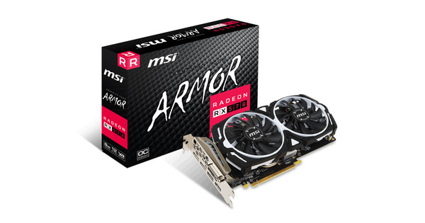 Free Express Pst MSI ARMOR Radeon RX 570 4 gig OC edition