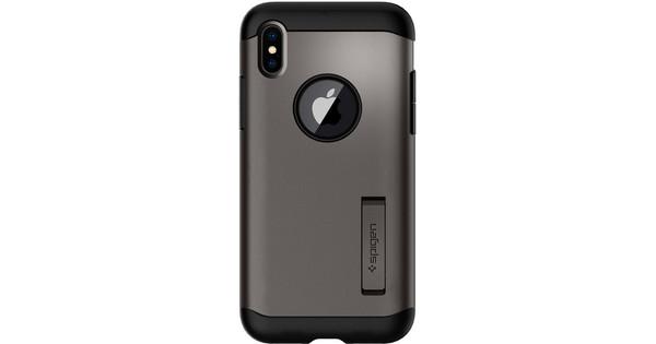 Spigen Slim Armor Apple iPhone X Back Cover Grijs