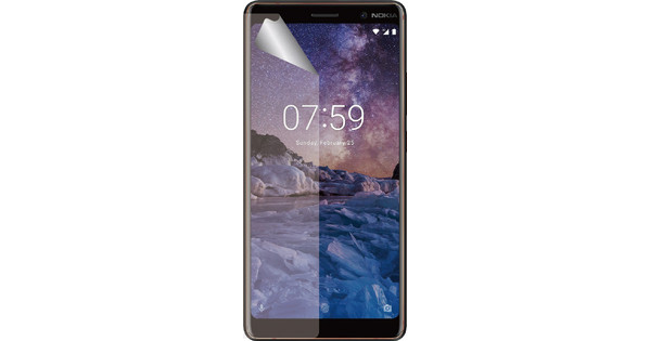 Azuri Nokia 7 Protège-écran Plastique Lot de 2