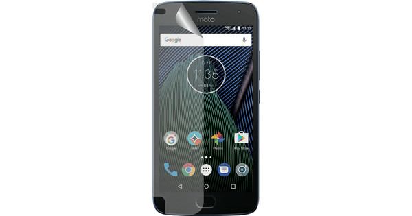 Azuri Motorola Moto G5 Plus Protège-écran plastique Lot de 2