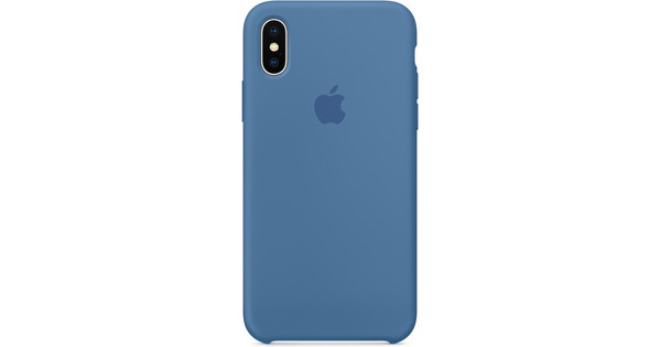 the best attitude 70349 381d4 Apple iPhone X Silicone Back Cover Denim Blue