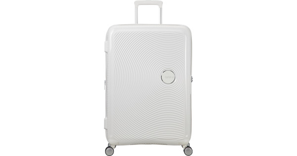 American Tourister Soundbox Expandable Spinner 77cm Pure White