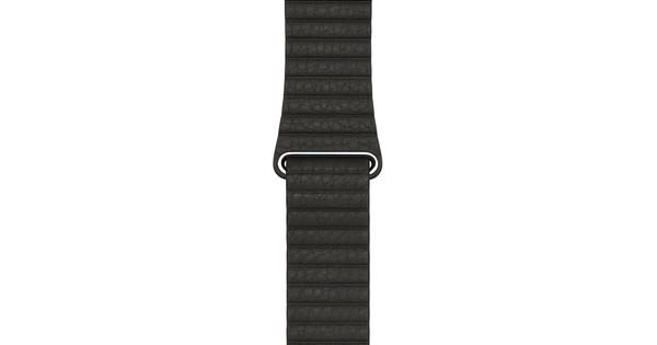 Apple Watch 42mm Leren Horlogeband Grijs Medium