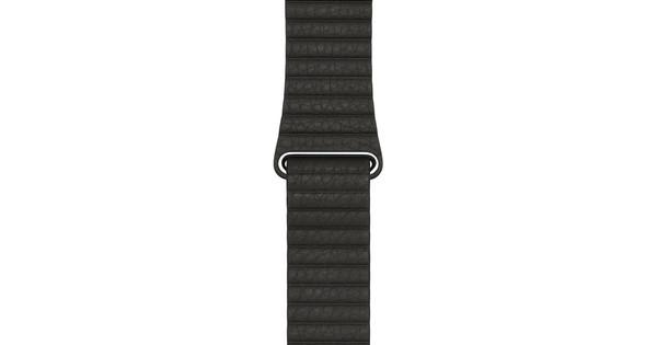 Apple Watch 42mm Leren Horlogeband Grijs Large