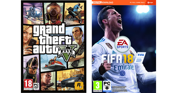 FIFA 18 PC + GTA 5 PC