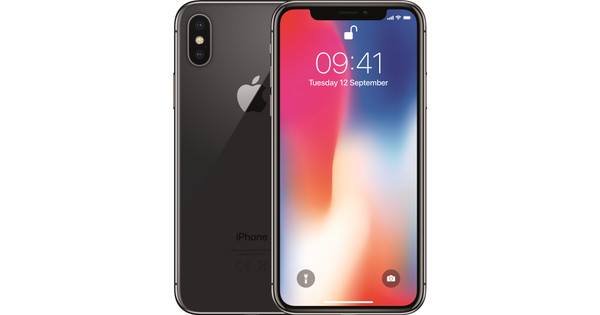 e574935226fe Apple iPhone X 64GB Space Gray - Coolblue - Before 23:59, delivered ...