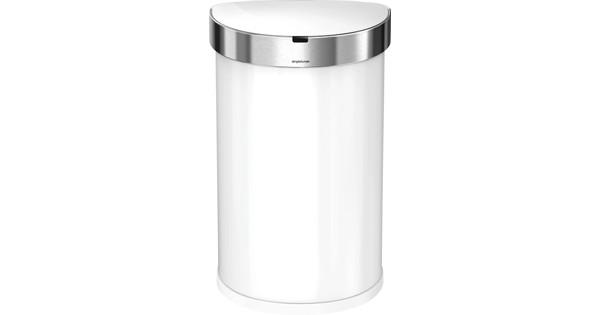 f57ea5c4a5568a Simplehuman Semi-round Sensor Liner Pocket 45 Liters White ...