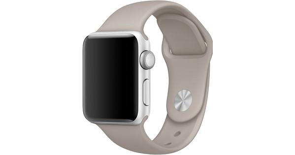 Apple Watch 38mm Siliconen Horlogeband Sport Kiezelsteen