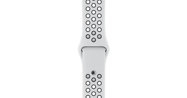 Apple Watch 38mm Siliconen Horlogeband Nike Sport Wit