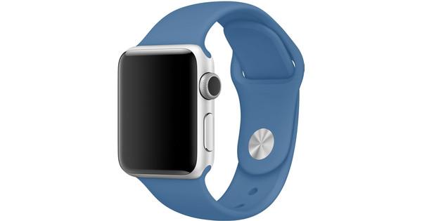 Apple Watch 42mm Siliconen Horlogeband Sport Jeansblauw