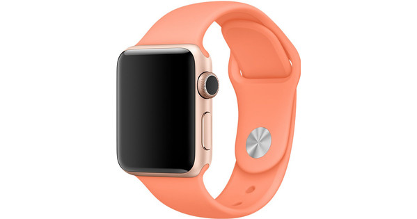 Apple Watch 42mm Siliconen Horlogeband Sport Perzik