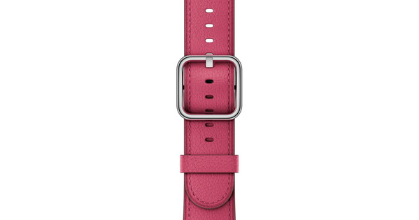 Apple Watch 42mm Klassiek Leren Horlogeband Roze