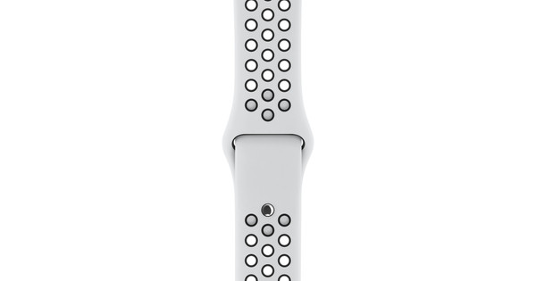 Apple Watch 42mm Siliconen Horlogeband Nike Sport Wit