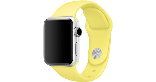 Apple Watch 38mm Siliconen Horlogeband Sport Citroengeel