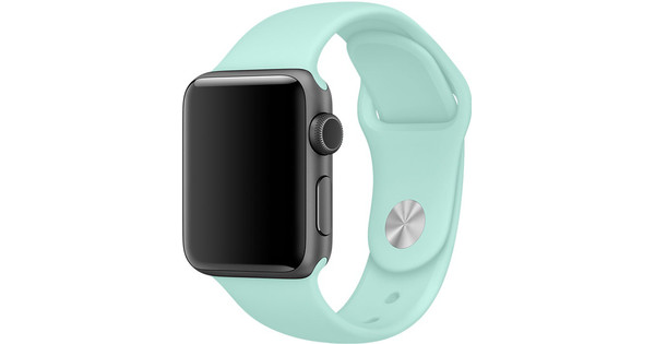Apple Watch 38mm Siliconen Sport Polsband Mintgroen