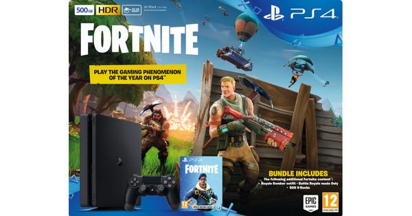 Sony PlayStation 4 Slim 500 Go + Fortnite bundel