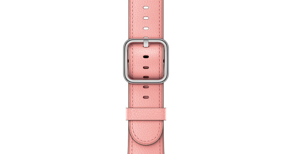Apple Watch 38mm Klassiek Lederen Polsband Zachtroze