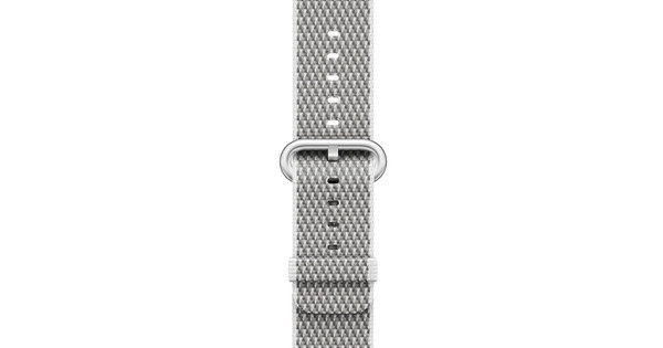 Apple Watch 42mm Nylon Woven Check Horlogeband Wit