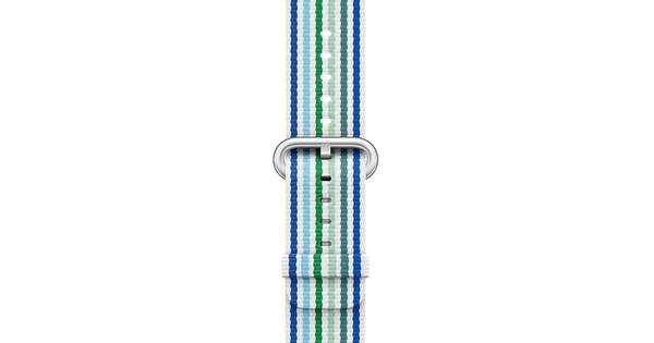 Apple Watch 38mm Nylon Woven Gestreept Blauw