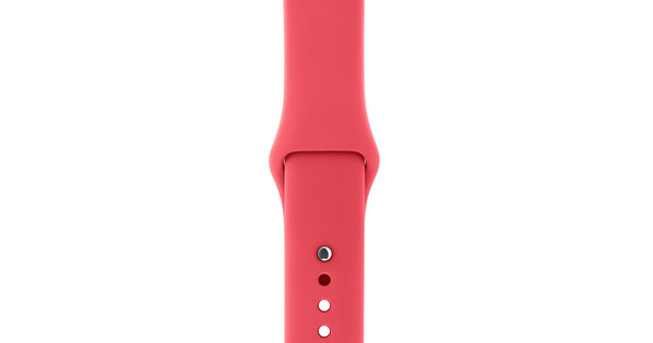 Apple Watch 42mm Siliconen Horlogeband Sport Frambozenrood
