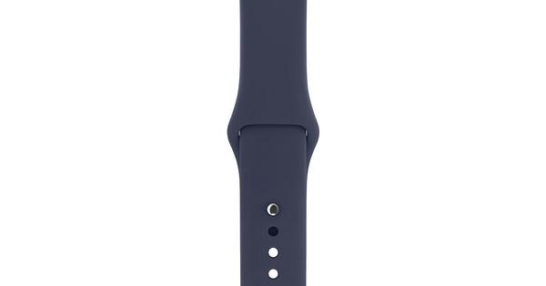 Apple Watch 38mm Siliconen Polsband Sport Middernachtblauw