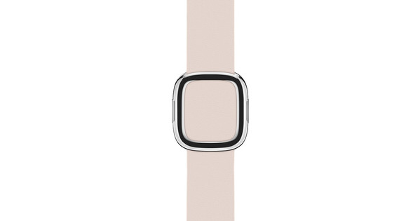 Apple Watch 38mm Modern Leren Horlogeband Roze - M