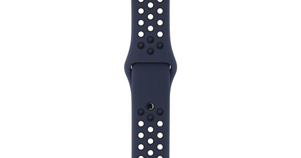 Apple Watch 42mm Siliconen Polsband Nike Sport Obsidaan/Zwart