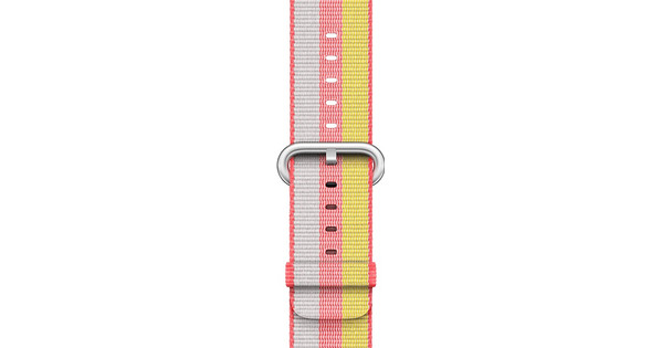 Apple Watch 42mm Nylon Woven Polsband Rood
