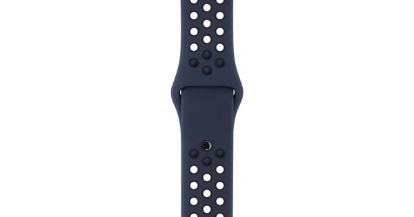 Apple Watch 38mm Siliconen Polsband Nike Sport Obsidaan/Zwart
