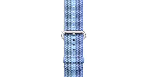 Apple Watch 38mm Nylon Woven Polsband Tahoe Blauw